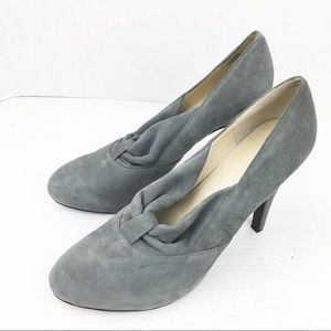 SZ 11 Pull On Open Gray Suede Leather Bootie